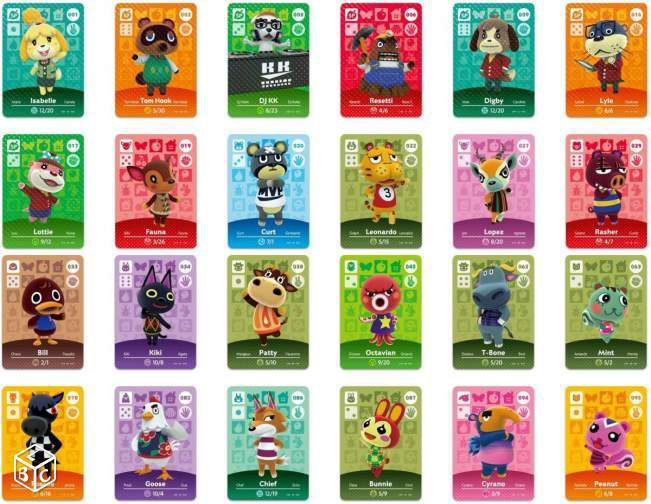 Cartes Animal Crossing à collectionner