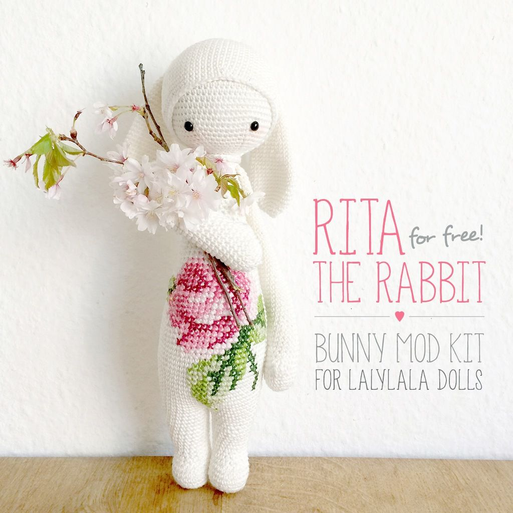 Rita the rabbit, patron crochet gratuit par Lalylala