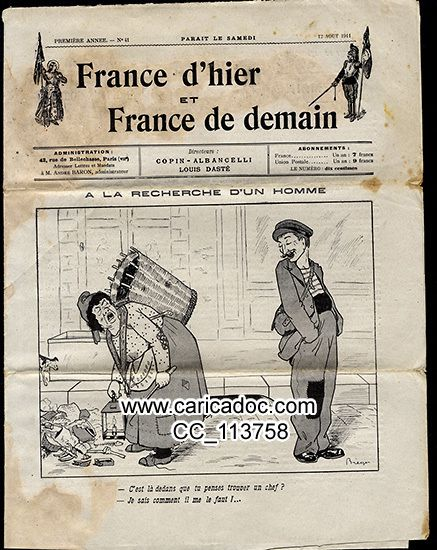 France d'hier et france de demain Copin-Albancelli