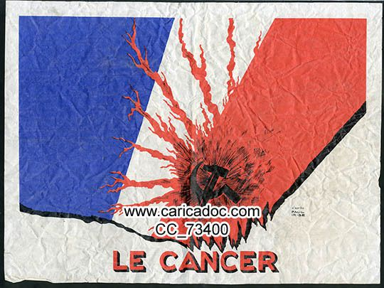 Paul Iribe (1883-1935), « Le cancer », affiche, 1968.
