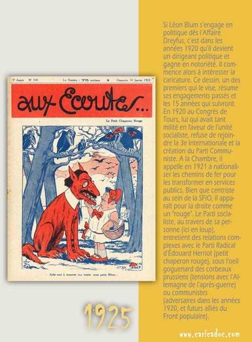 Léon Blum, la caricature contre le front populaire : exposition