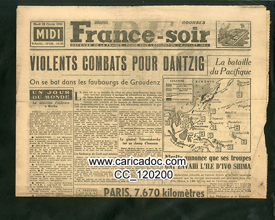 1945 Seconde Guerre mondiale Libération