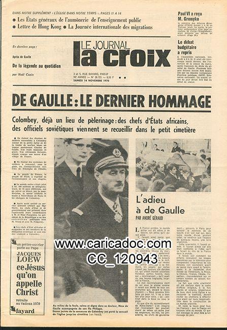De Gaulle est mort 1970 novembre 1970, mort de de Gaulle décès funérailles