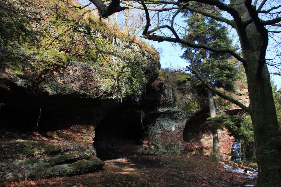 Le Grand Rougimont est formé de multiples champignons de grès collés les uns aux autres...