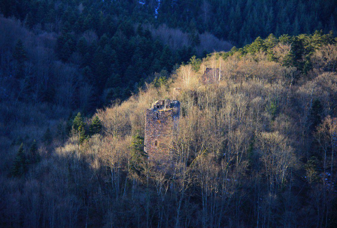 Une dernière vue sur le donjon du Nideck.