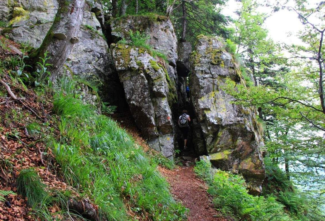 L'entrée des Hirschsteine est un passage étroit.