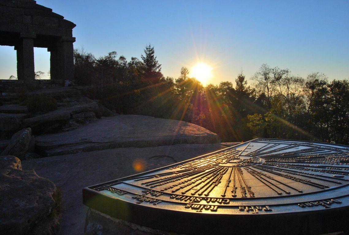 Lever de soleil au Donon