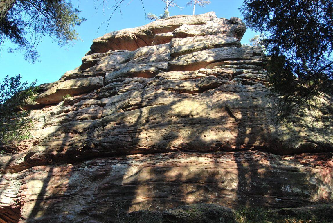 La paroi d'escalade du Muhlberg.