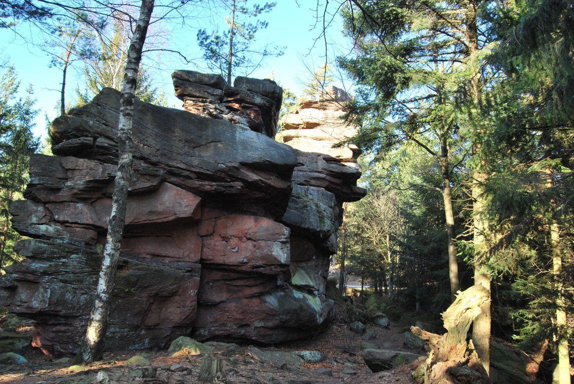 Le rocher d'escalade du Muhlberg.