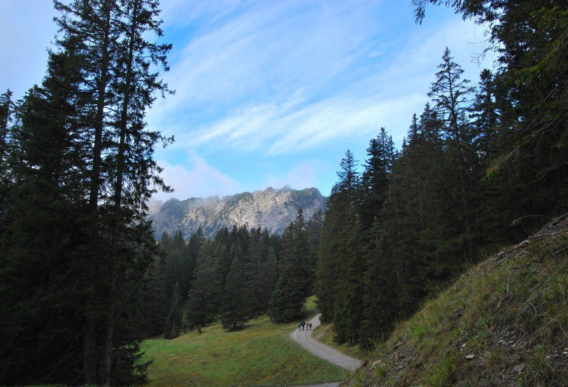 Nous voilà en direction de l'Alpilakopf et il fait beau !