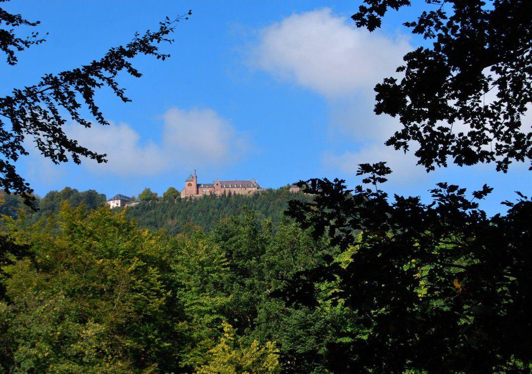 Au loin, le monastère de Hohenbourg