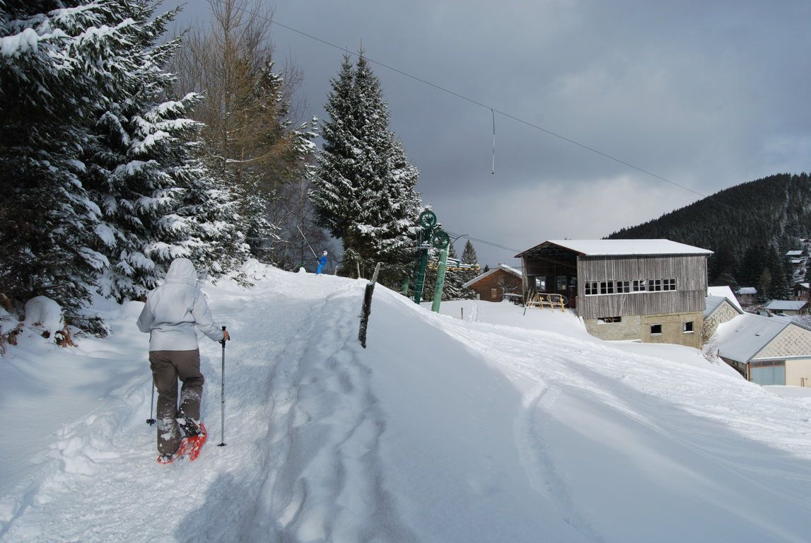 La station de ski du Gaschney est en vue