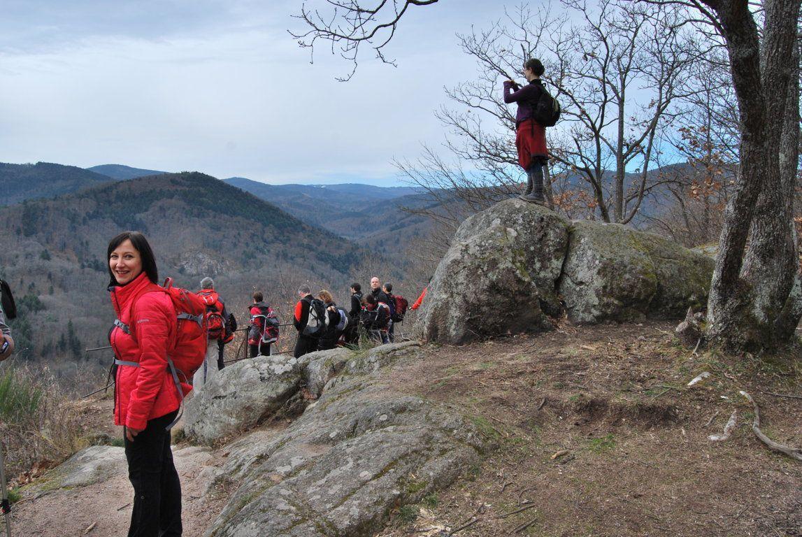 Le rocher Sainte Richarde offre un beau panorama sur la vallée de l'Andlau