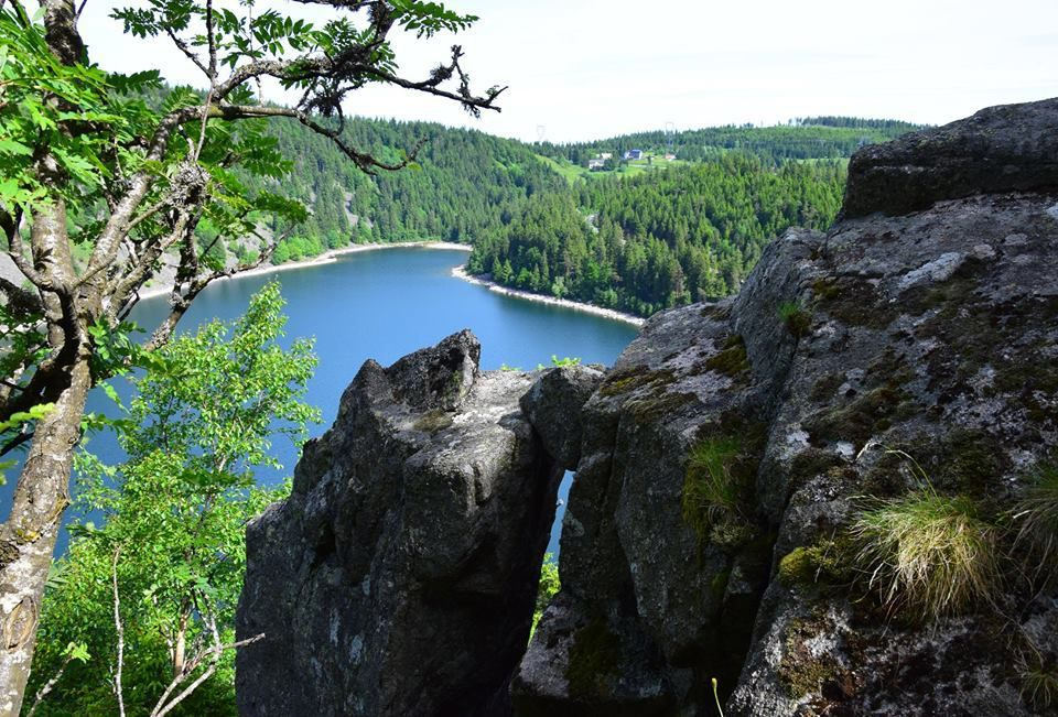 Le lac Blanc depuis les rochers Hans