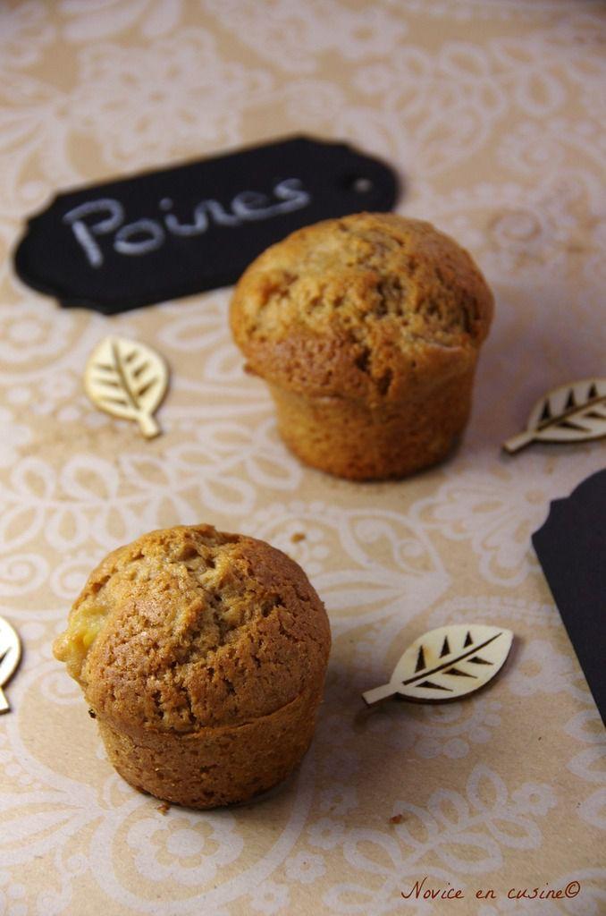 Muffins aux poires et chocolat praliné