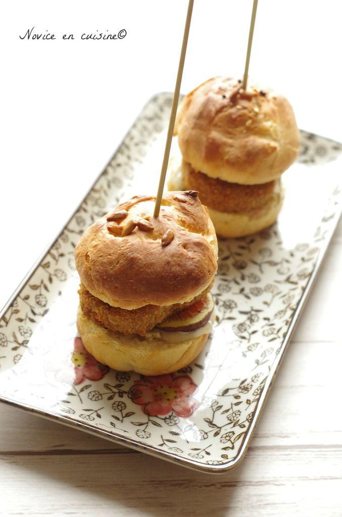 Minis hamburgers aux nuggets vegan, figues et gorgonzola {Concours inside}