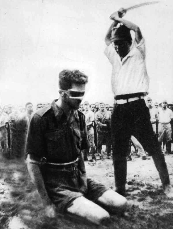 L'une des photos présentée par le document sur les Japonais pendant la guerre