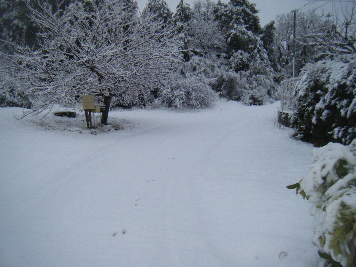 tout est recouvert de neige, le chasse-neige n'est pas passé...
