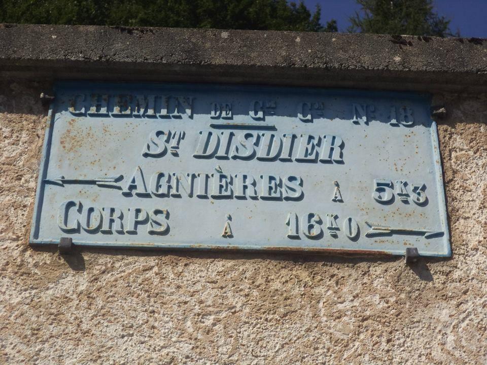 plaque de cocher de Saint-Disdier