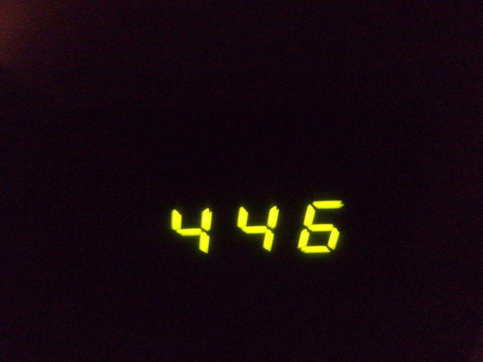 départ à 4h46 !