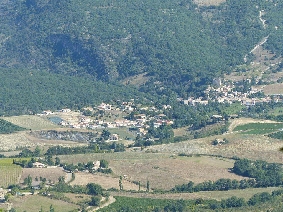Sainte-Jalle vue d'en haut