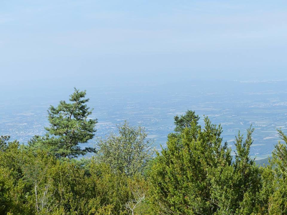 la vallée du Rhône sous sa nappe de pollution....