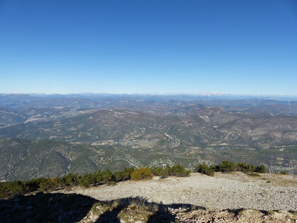 panorama sur les Baronnies jusqu'au Alpes