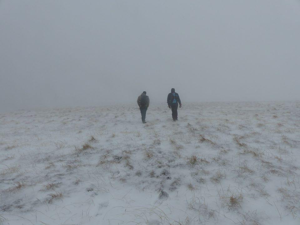 la traversée de la grande brèche est extrêmement ventée et vraiment glacial (-18°C de ressentie) !