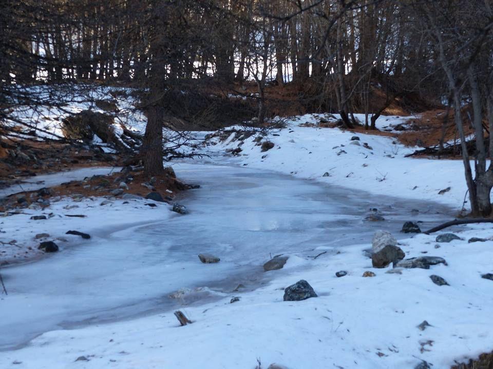 l'Alpet complétement gelé