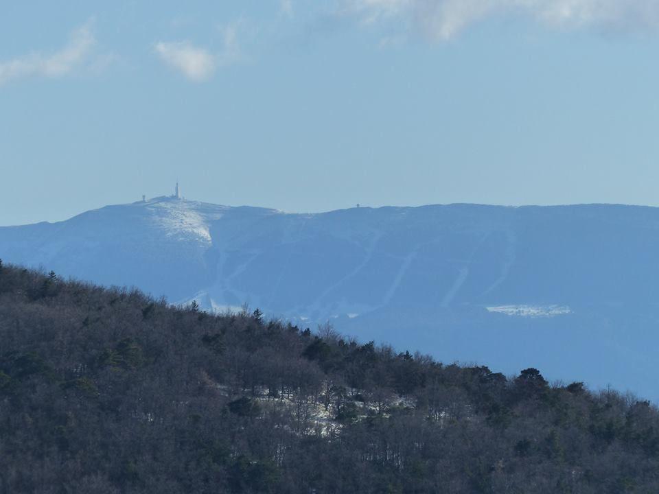 le Géant de Provence, presque sans neige...