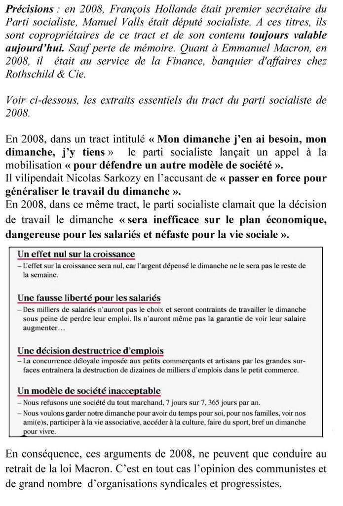 Lettre pétition : retrait de la loi Macron