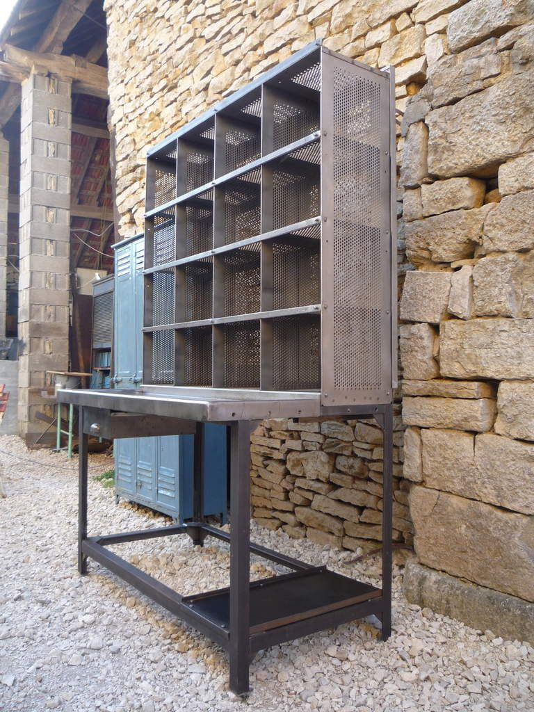 BUREAU CASIER TRI POSTAL 125, 16 CASES 'BAUCHE' 1960