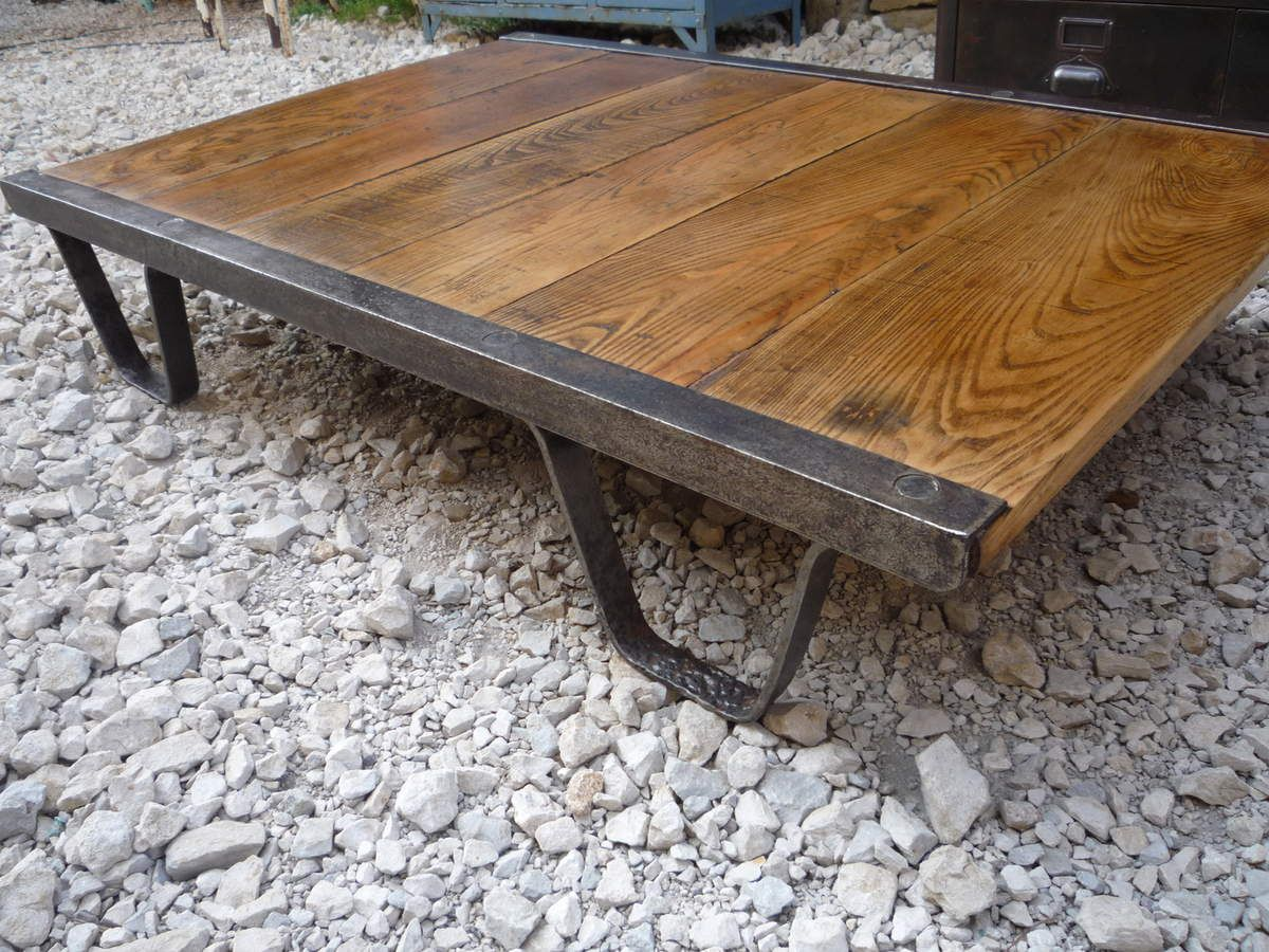 Table basse palette sncf ch ne 1940 mettetal industry - Table basse palette design ...