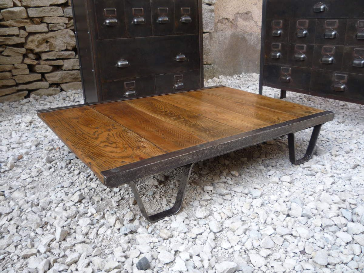 Tables basses mettetal industry design industriel du - Table basse palette industrielle vintage ...
