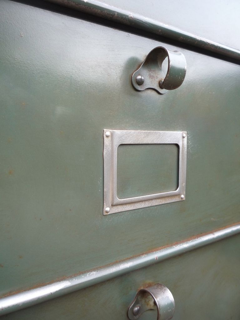 CLASSEUR 12 CLAPETS STRAFOR PATINE OIGINE PETROLE PLATEAU CHENE 1940