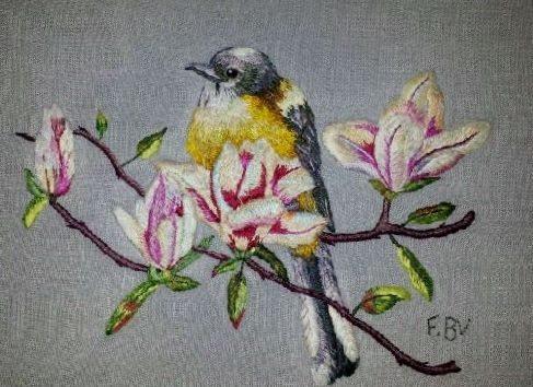Peinture à l'aiguille réalisée Françoise B.V.