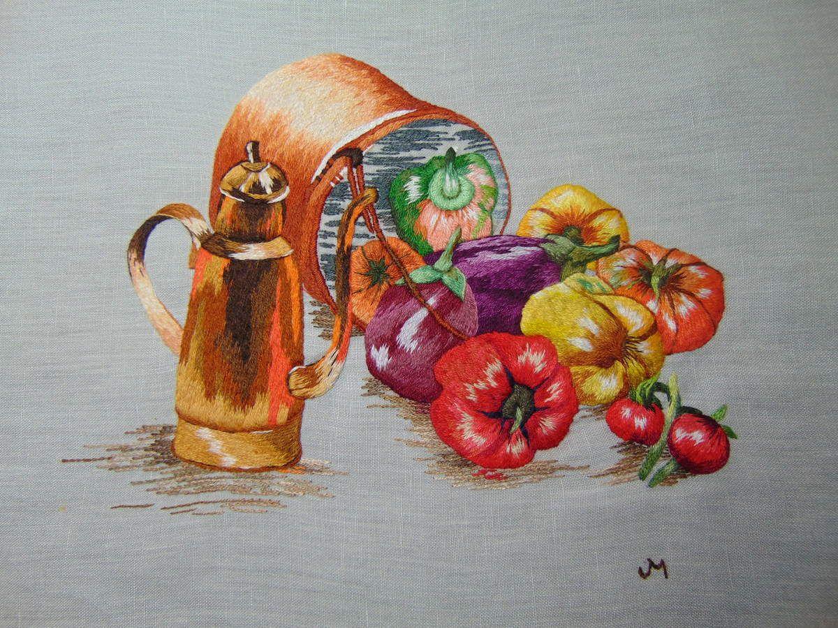 Peinture à l'aiguille réalisée par Joseline