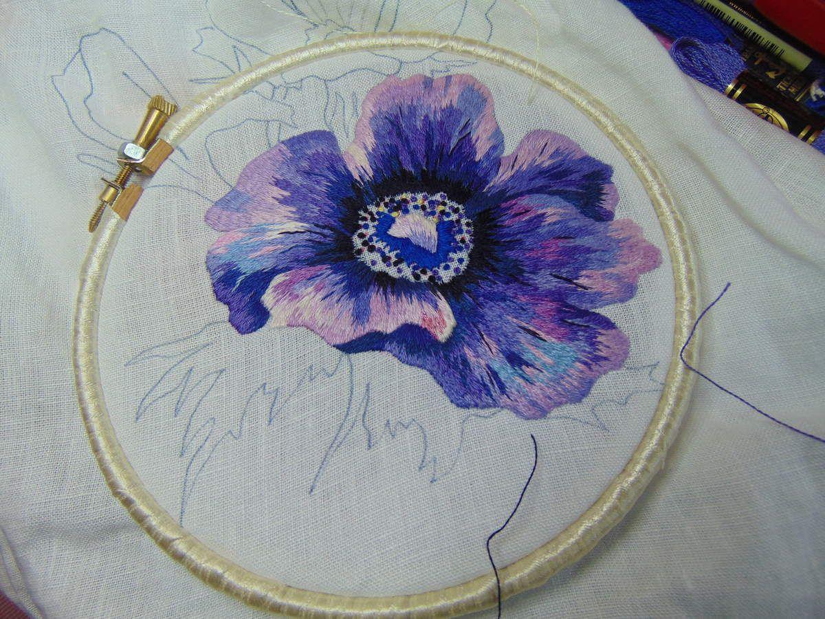 Peinture à l'aiguille réalisée par Michèle