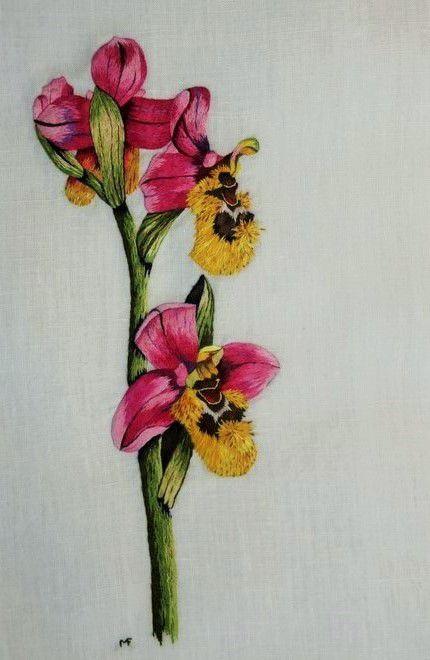 Peinture à l'aiguille réalisée par Françoise M.
