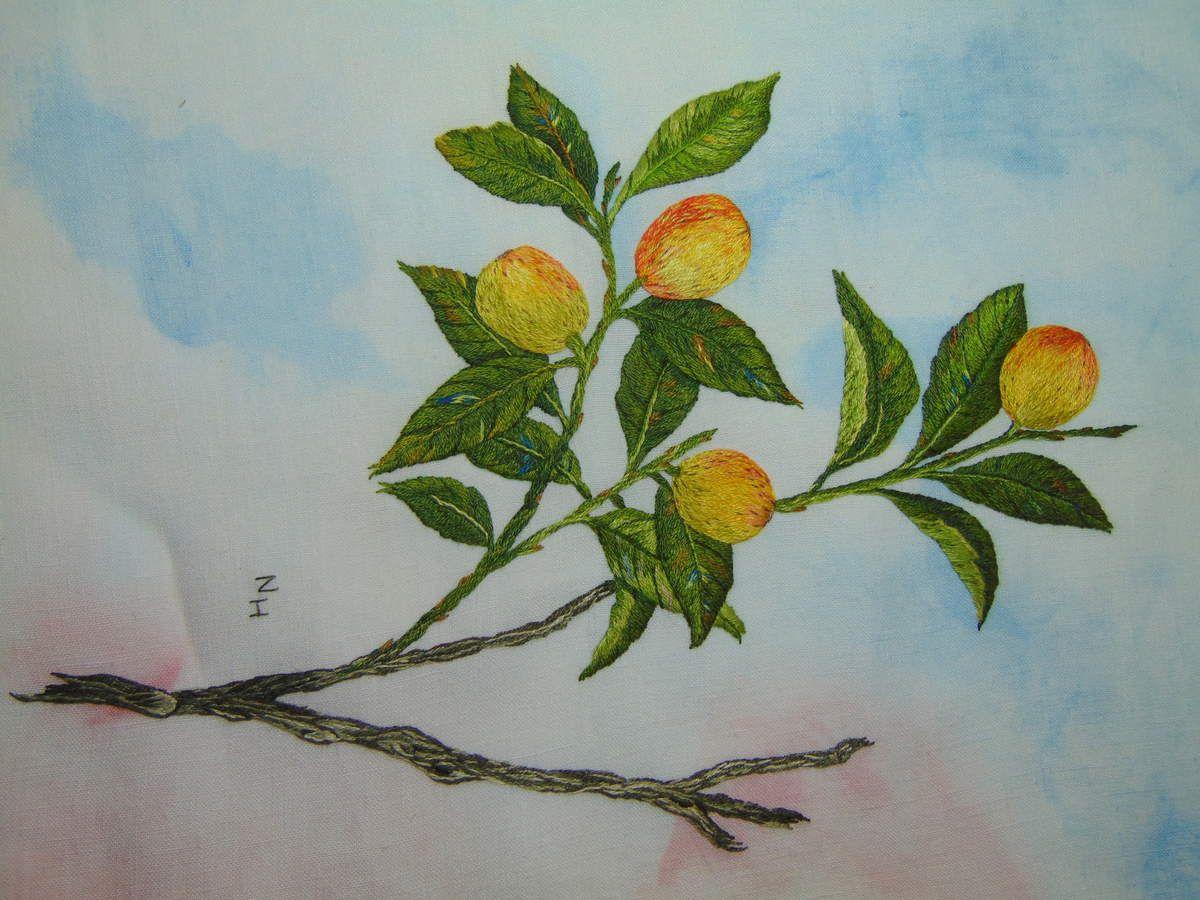 Peinture à l'aiguille réalisée par Nicole H.