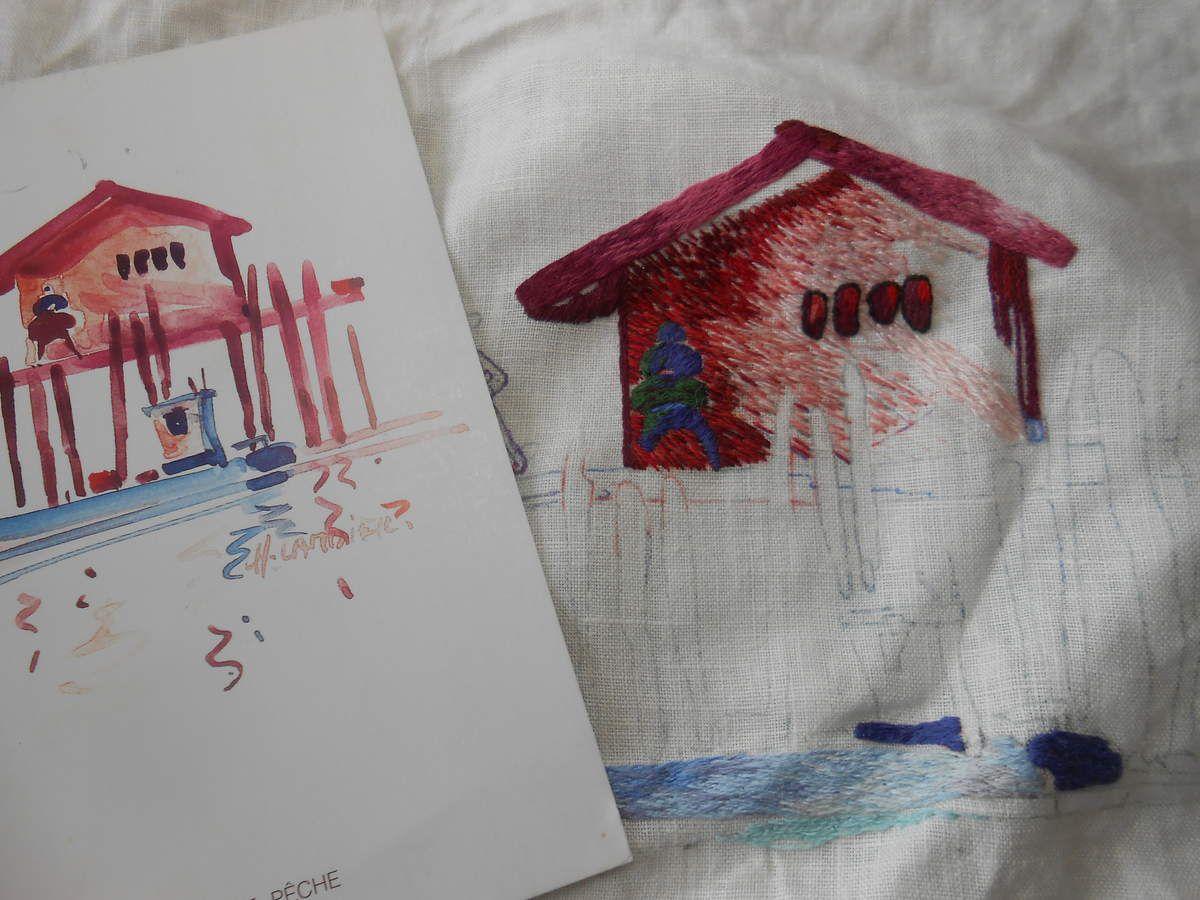 Peinture à l'aiguille réalisée par Marie Do