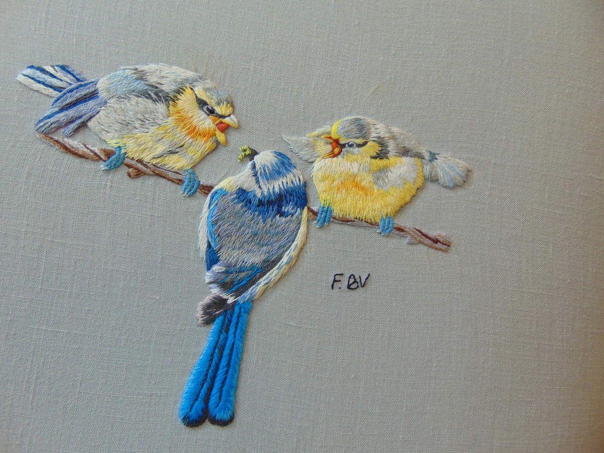 Peinture à l'aiguille réalisée par Françoise