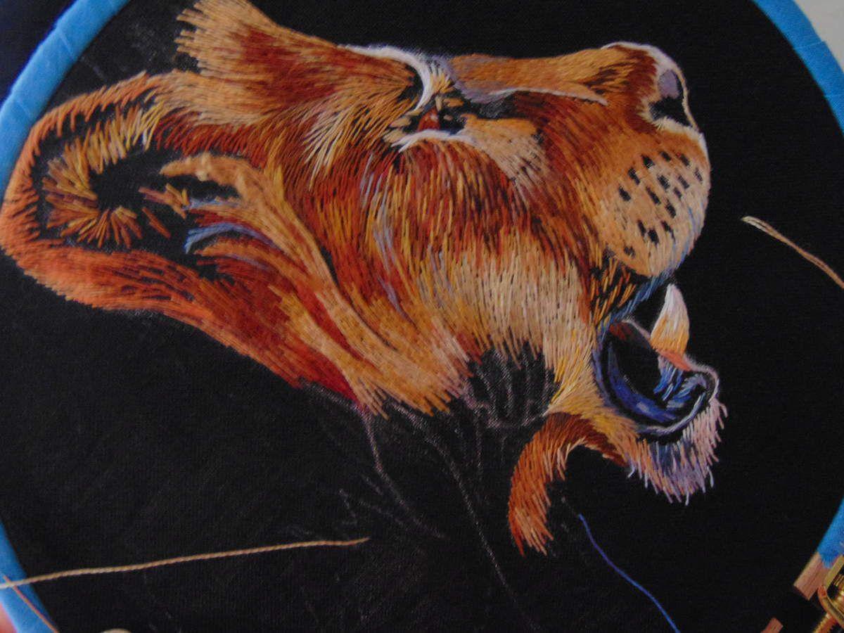 Peinture à l'aiguille réalisée par Yvonne