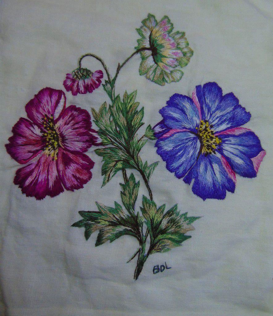 Peinture à l'aiguille réalisée par Sylviane