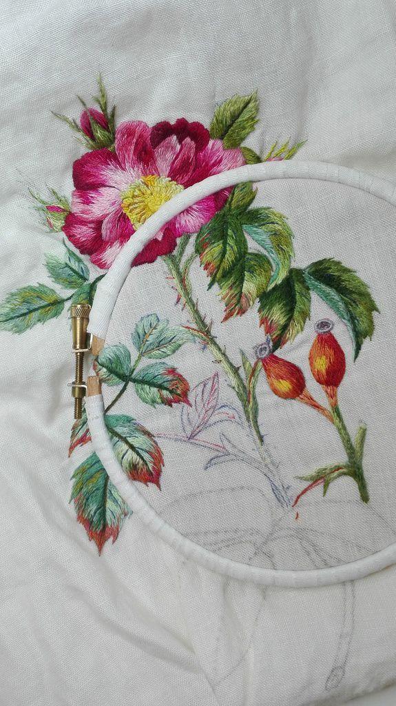 Peinture à l'aiguille réalisée par Chantal G.
