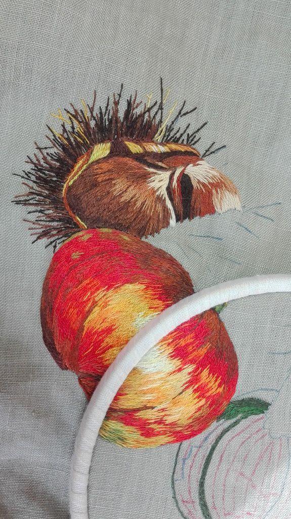 Peinture à l'aiguille réalisée par Annie