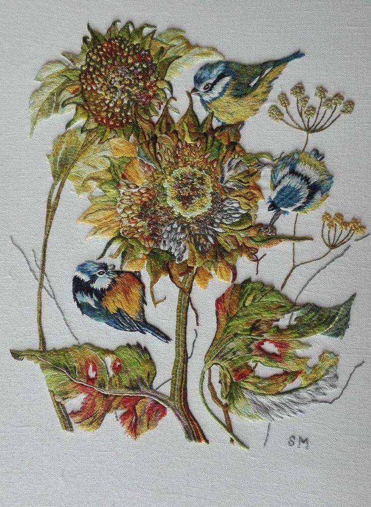 Peinture à l'aiguille réalisée par Suzanne