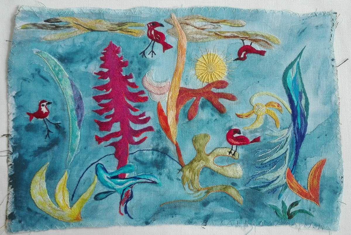 Peinture à l'aiguille réalisée par Dominique Y.