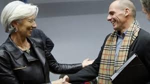 Tout sourire avec la patronne du FMI