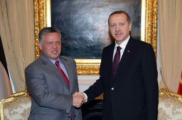 Le roi de Jordanie Abdallah et le président turc Recep Tayyip Erdogan (AFP)